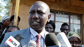 Deputy President William Ruto speaking to reporters (file photo)