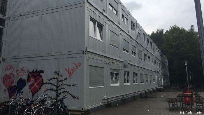A block of trailers where Ahmed A. lived in Hamburg