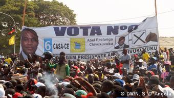 Angola politischen Rallye von CASA-CE Partei in Benguela Provinz
