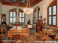 Reprodução da sala de estar do compositor, na prefeitura de Leipzig