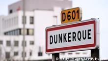 Frankreich | Ortsschild Dünkirchen / Dunkerque