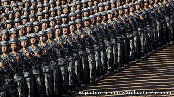 China Militärparade in Zhurihe
