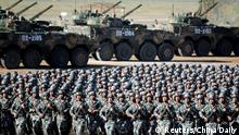 China Militärparade in Zhurihe