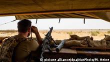 Mali Bundeswehrsoldat im Camp Castor