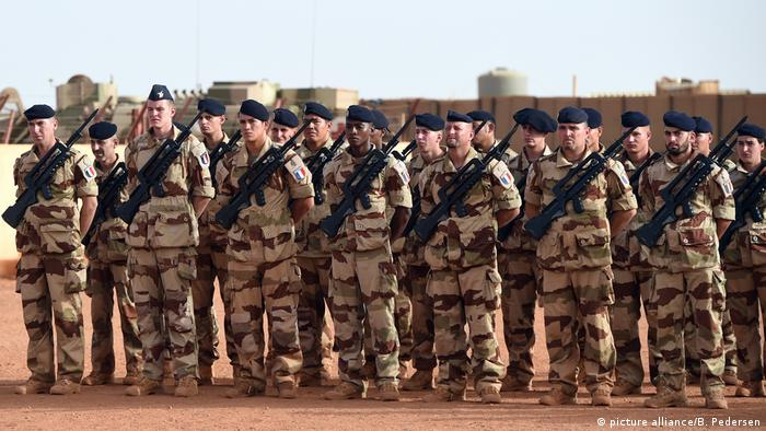 French troops in Mali taking part in the Barkhane operation.