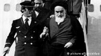 Rückkehr Ayatollah Chomeinis aus dem Exil nach Teheran 1979 (Foto:dpa)