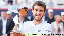 Tennis: German Open in Hamburg- Leonardo Mayer aus Argentinien jubelt