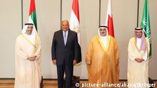 Bahrain Außenminister von VAE, Saudi Arabien und Ägypten