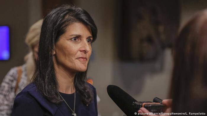 USA New york Nikki Haley (picture-alliance/EuropaNewswire/L. Rampelotto)
