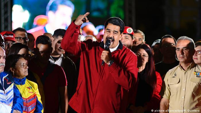 Venezuela Caracas Nicolas Maduro (picture-alliance/dpa/M. Quintero)