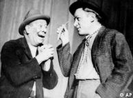 Two playactors in a 1956 production of 'Waiting for Godot'