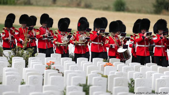 Memorial for the Third Battle of Ypres at the Tyne Cot Cemetery in western Belgium (picture-alliance/dpa/Y. Mok)
