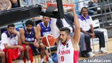 China Basketballer Mohammad Hassanzadeh in Shanghai