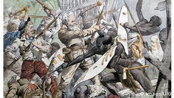 An illustration of the Maji Maji Rebellion