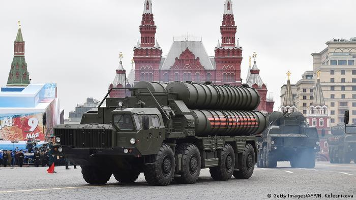 Russisches Raketenabwehrsystem S-400 (Getty Images/AFP/N. Kolesnikova)