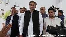 Pakistan Islamabad - Shahid Khaqan Abbasi (picture-alliance/AP Photo/A. Naveed)
