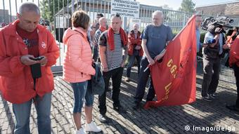 Protests outside Belgium prison Lantin