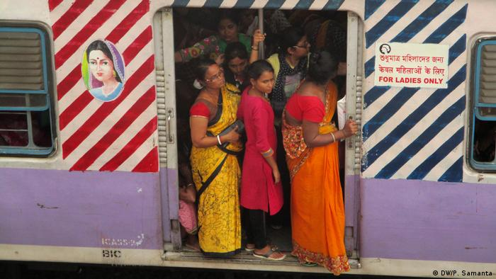 A women-only train in West Bengal