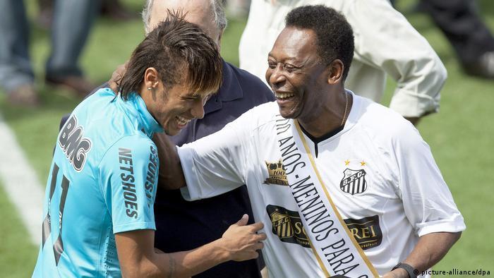 Brasilien | Pele und Neymar (picture-alliance/dpa)