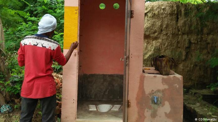 Öffentliche Toilette fast erwischt