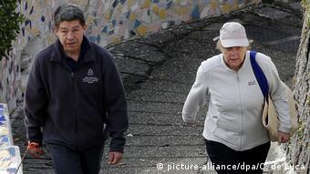 Ангела Меркель с супругом в отпуске в 2015 году