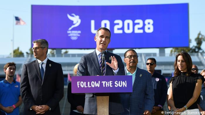 USA Los Angeles Bürgermeister Garcetti (Getty Images/K. Djansezian)