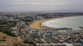 La ciudad costera de Agadir, en Marruecos.