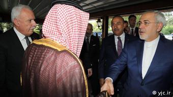 Istanbul Javad Zarif & Adel Al-Jubeir, Außenminister Iran und Saudi-Arabien (yjc.ir)