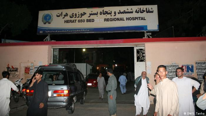 The hospital in Herat where the wounded have been taken.