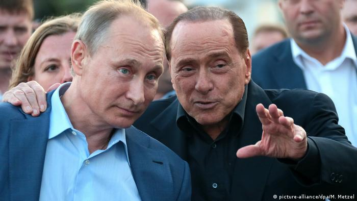 Observers have pointed to growing support across the country for Forza Italia, a party founded and still run by Italy's disgraced ex-premier, Silvio Berlusconi (right)
