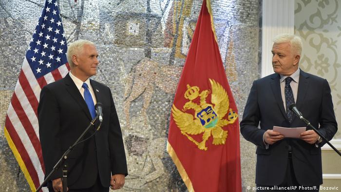 Potpredsednik SAD Majk Pens i premijer Crne Gore Duško Marković u Podgorici
