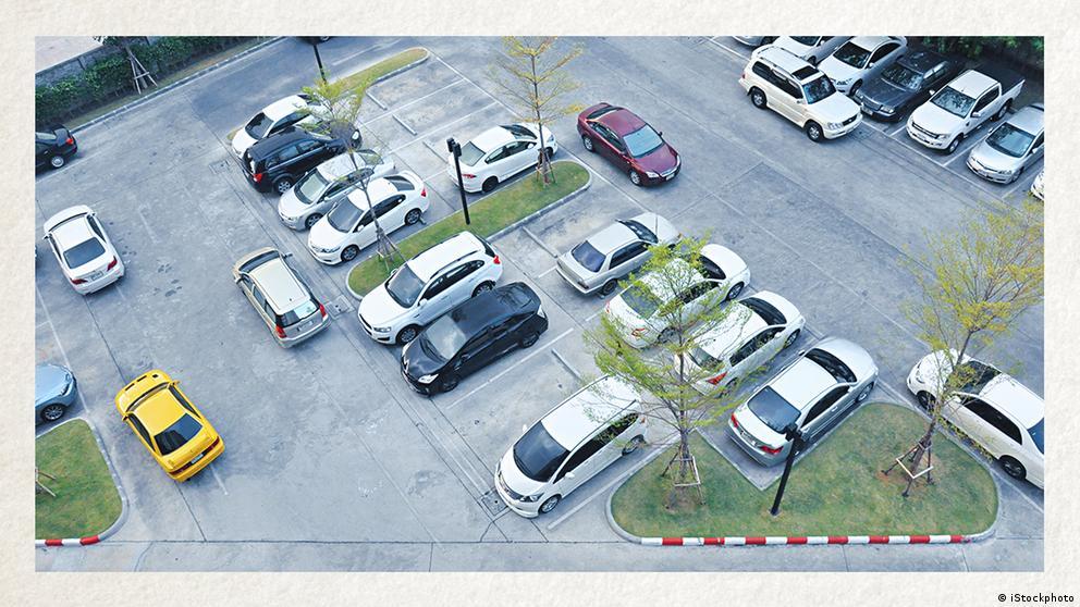 Deutschkurse | Wortschatz | WBS_Foto_Parkplatz