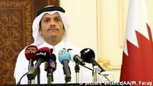 Katar Doha italienischer Außenminister Angelino Alfano und Sheikh Mohammed bin Abdulrahman al-Thani