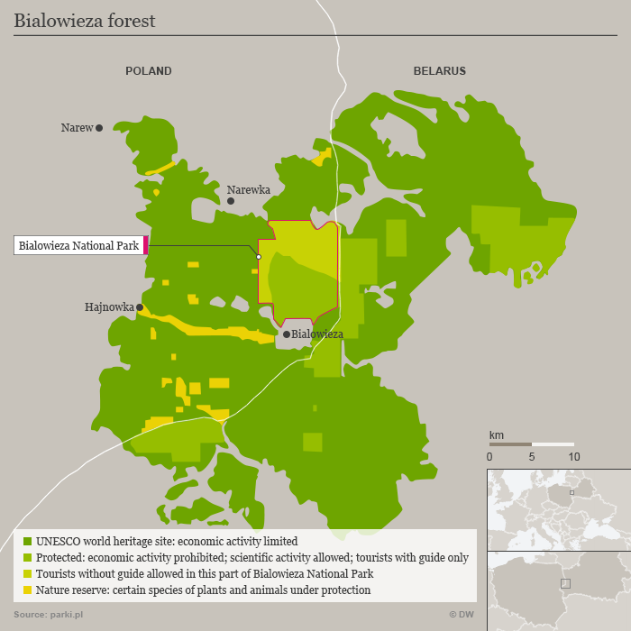 Bialowieza Forest map