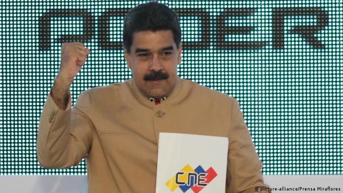 Venezuela Caracas Nicolas Maduro (picture-alliance/Prensa Miraflores)