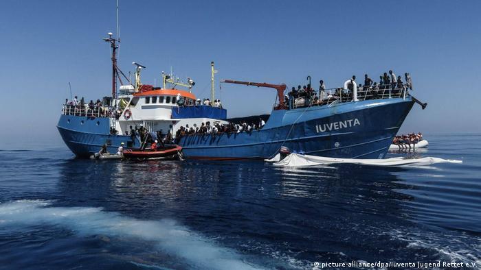 Migration Privates deutsches Rettungsschiff NGO Iuventa Jugend (picture-alliance/dpa/Iuventa Jugend Rettet e.V.)