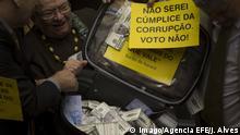 Brasilien Brasilia Protest Opposition