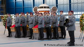 Ceremonies for the two German soldiers killed in Mali in July 2017