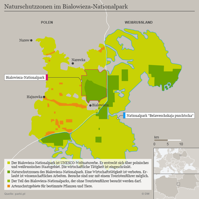 Karte Infografik Bialowieza Wald DEU