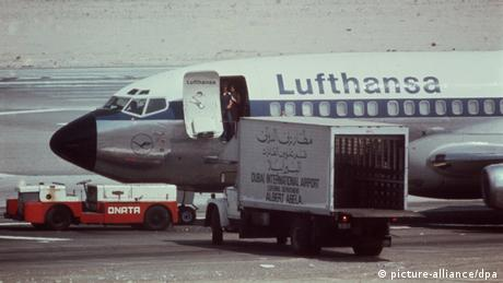 RAF hijacked a Luthansa plane in October 1977 (picture-alliance/dpa)