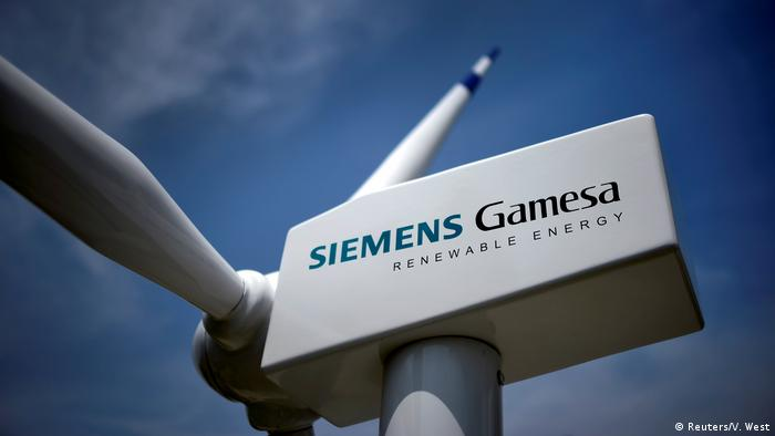 A model of a wind turbine with the Siemens Gamesa