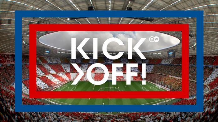 DW Kick off (Sendungslogo deutsch/englisch)