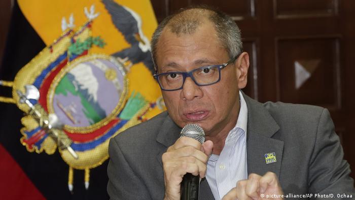 Ecuador Vize-Präsident Jorge Glas wird entlassen (picture-alliance/AP Photo/D. Ochaa)
