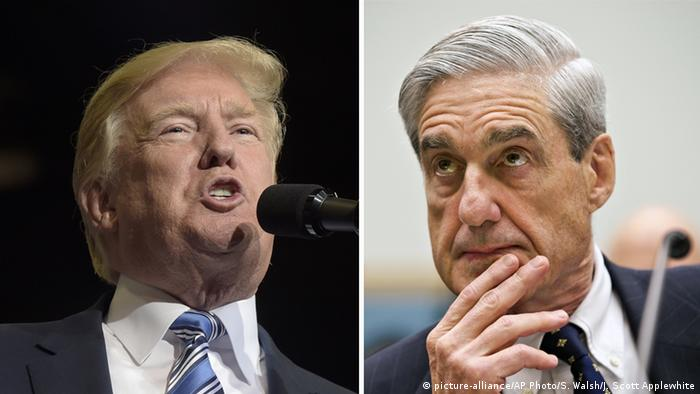 Bildkombo Donald Trump und Robert Mueller (picture-alliance/AP Photo/S. Walsh/J. Scott Applewhite)