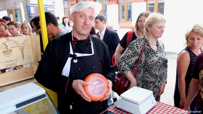 Russland Moskau- Käse Messe: Wladimir Lewen aus Rostow