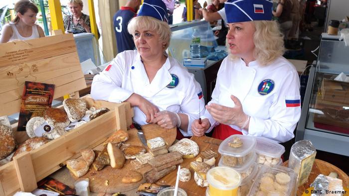 Russland Moskau- Käse Messe
