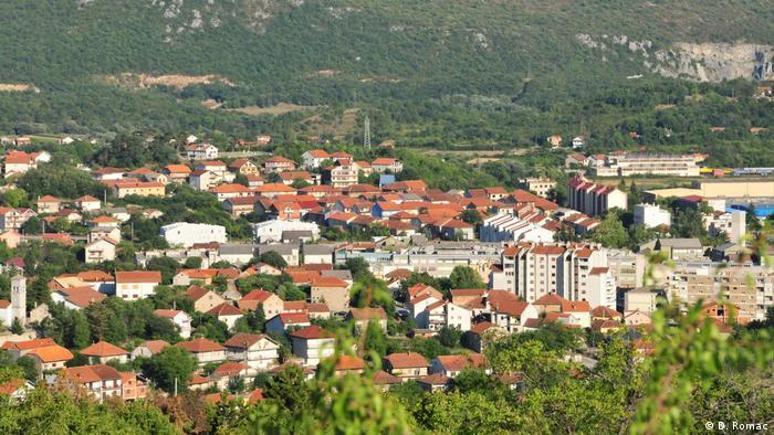 Kroatien Ansicht der Stadt Knin
