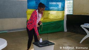 Ruanda Präsidentschaftswahlen Wähler in Kigali