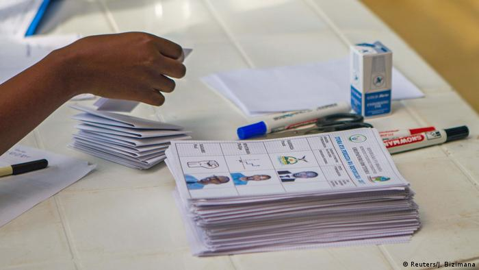 Ruanda Präsidentschaftswahlen Wahllokal in Kigali