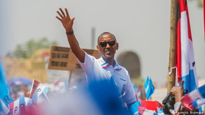 Paul Kagame at an election rally in Kigali (Reuters/J. Bizimana)